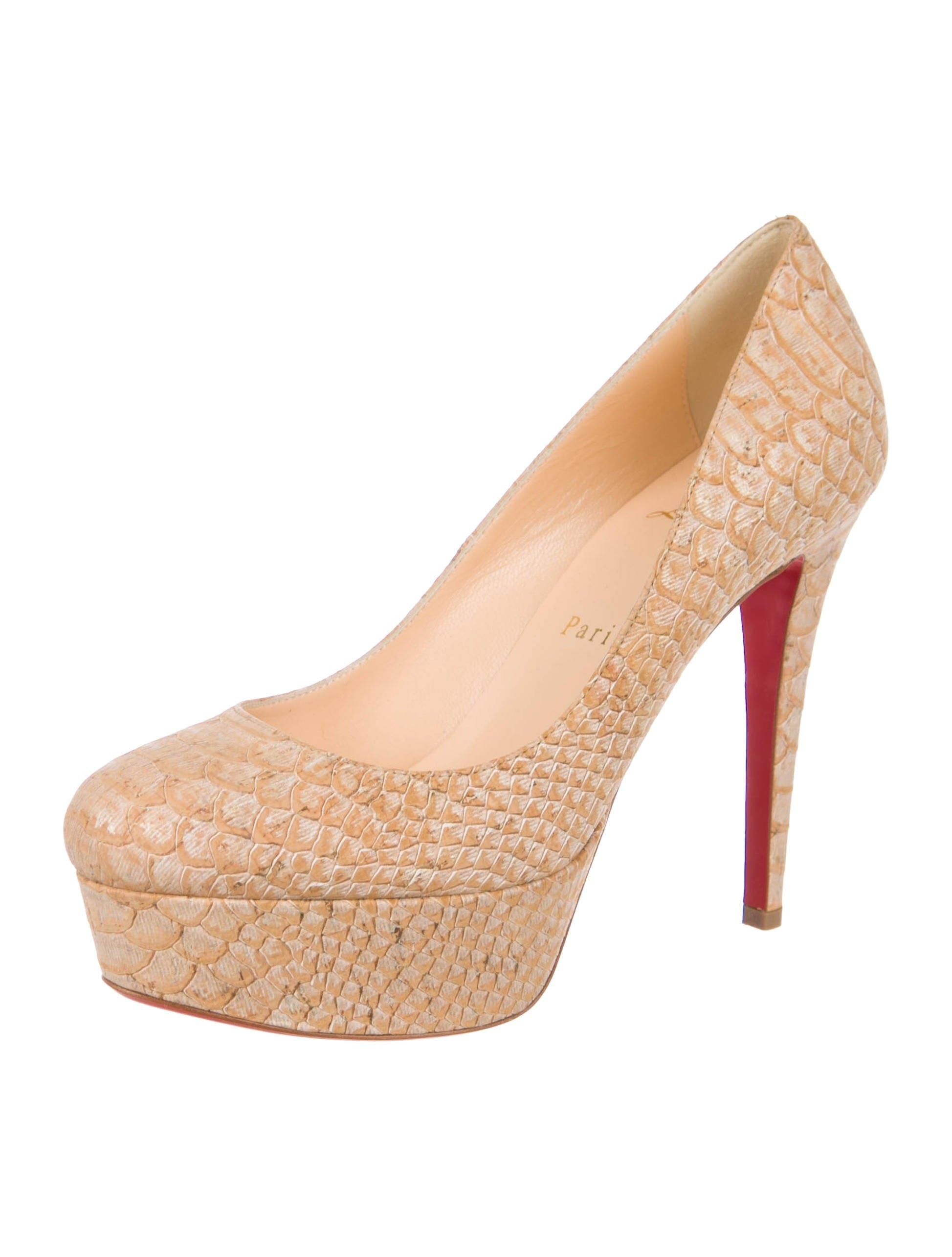 Christian Louboutin New Embossed Bianca 120 6 Pumps Size EU 36 (Approx. US 6) Regular (M, B)
