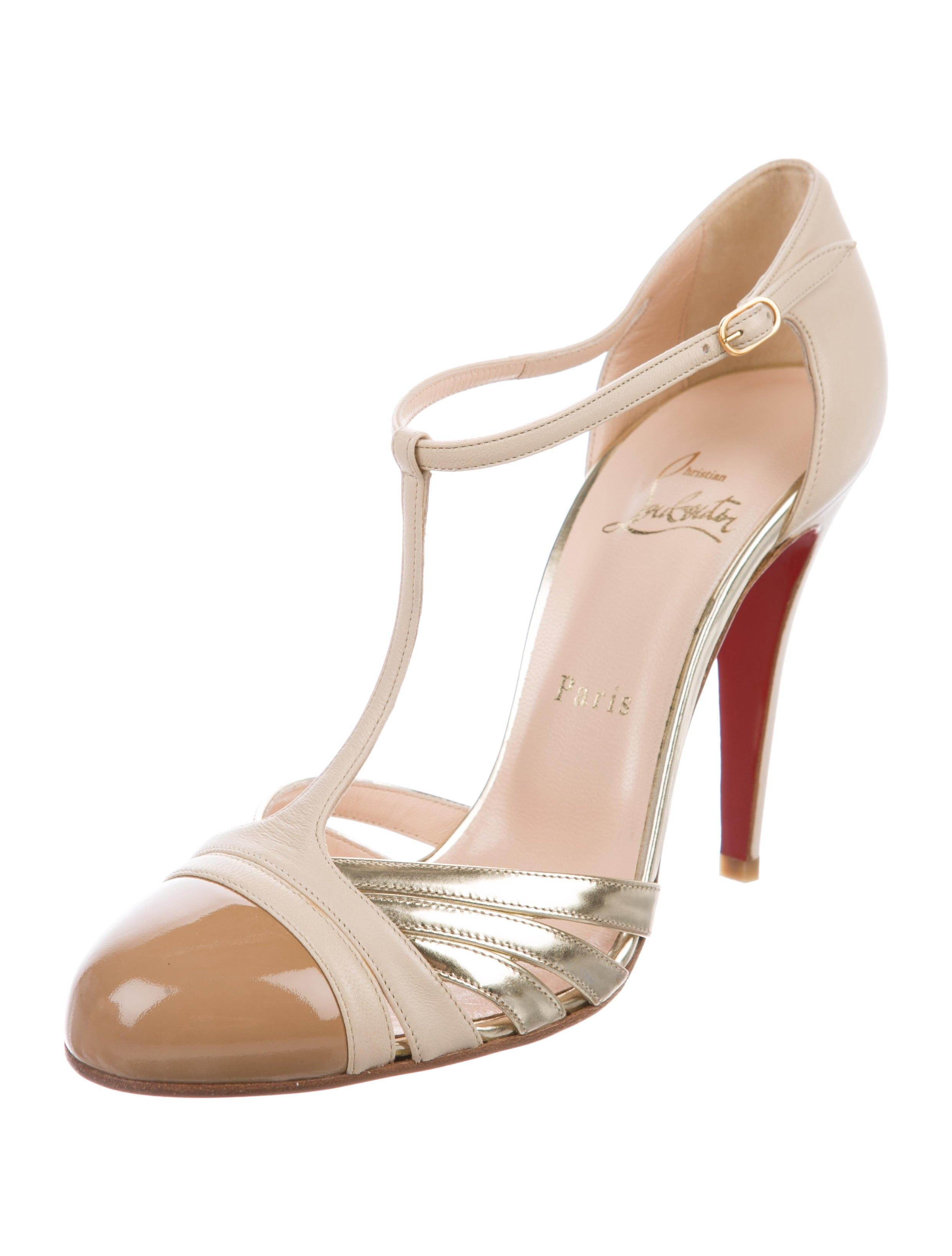 Christian Louboutin New Gino 100 Leather 8.5 Pumps Size EU 38.5 (Approx. US 8.5) Regular (M, B)