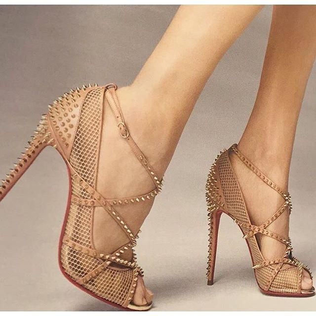 Christian Louboutin Mesh Ankle Strap Sandals enjoy cheap price supply for sale cheap sale professional PwUiKdaE15