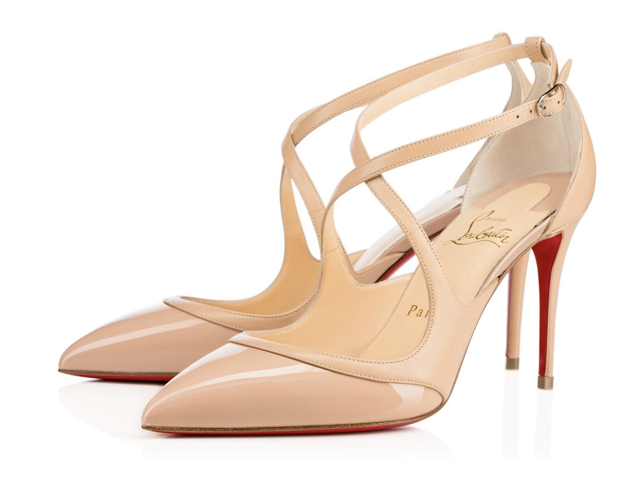 Christian Louboutin Nude Crissos 85mm Criss Cross #a508 Pumps Size EU 39.5 (Approx. US 9.5) Regular (M, B)