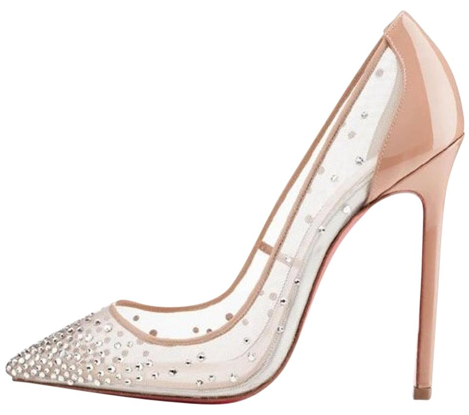 Christian Louboutin Nude/ Crystal Body Strass 120 Rete/Patent/Strass Formal Shoes Size US 7 Regular (M, B)
