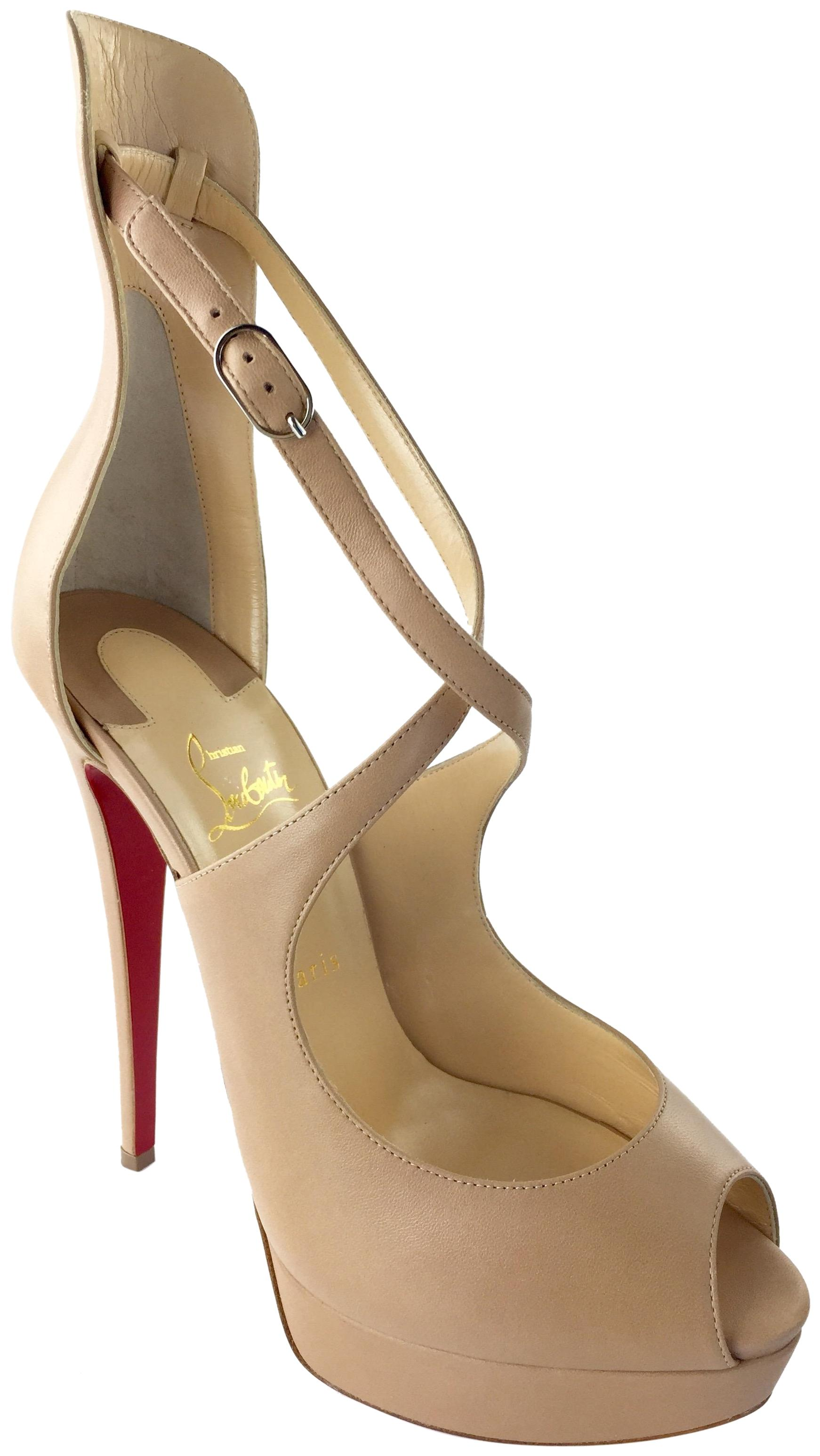best sneakers 4ccf6 6a798 Christian Louboutin Nude Marlenalta 150 Nappa Pumps Pumps ...