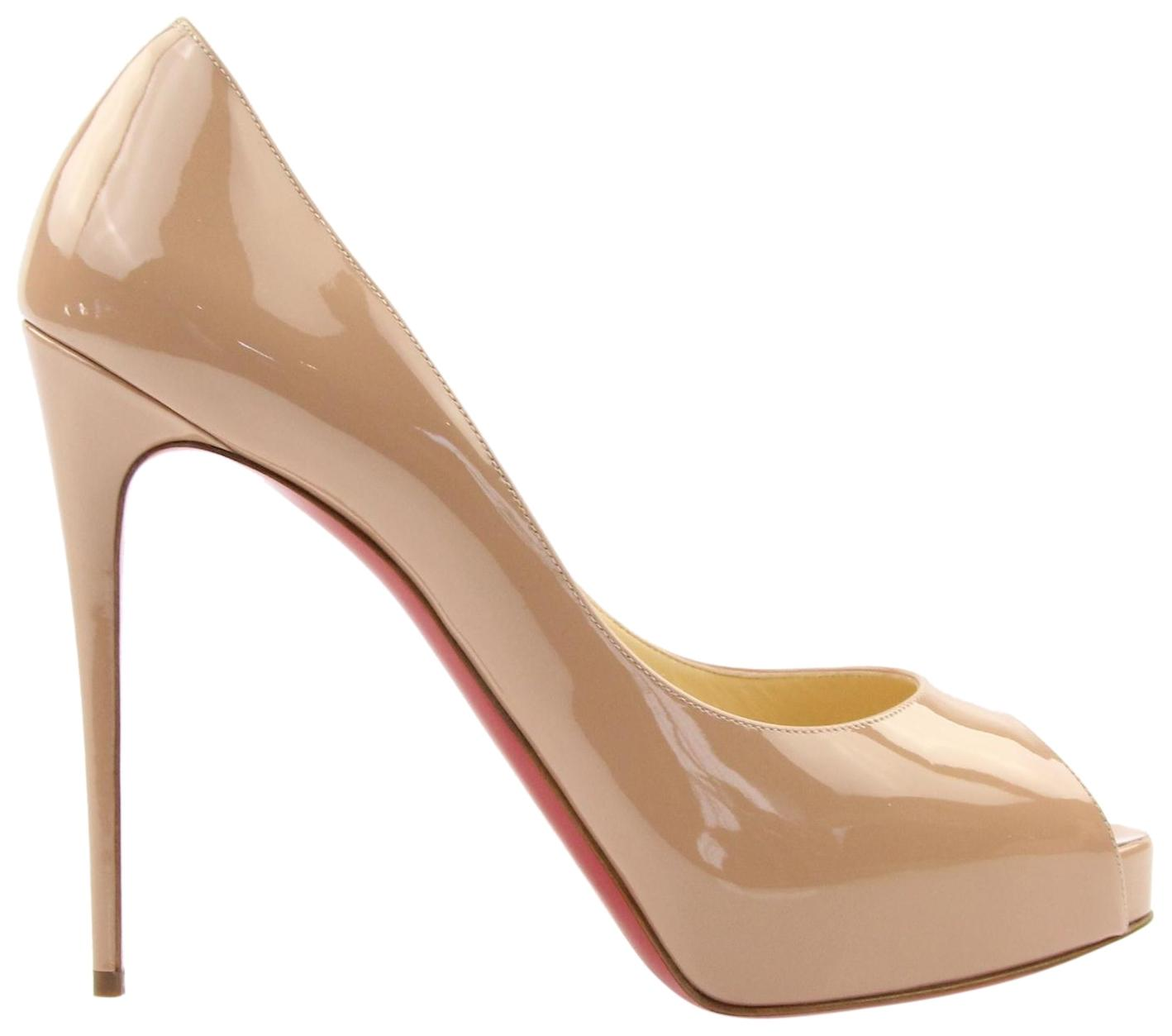 Christian Louboutin Nude New Very Prive 120 Patent Pumps Size EU 42 (Approx. US 12) Regular (M, B)