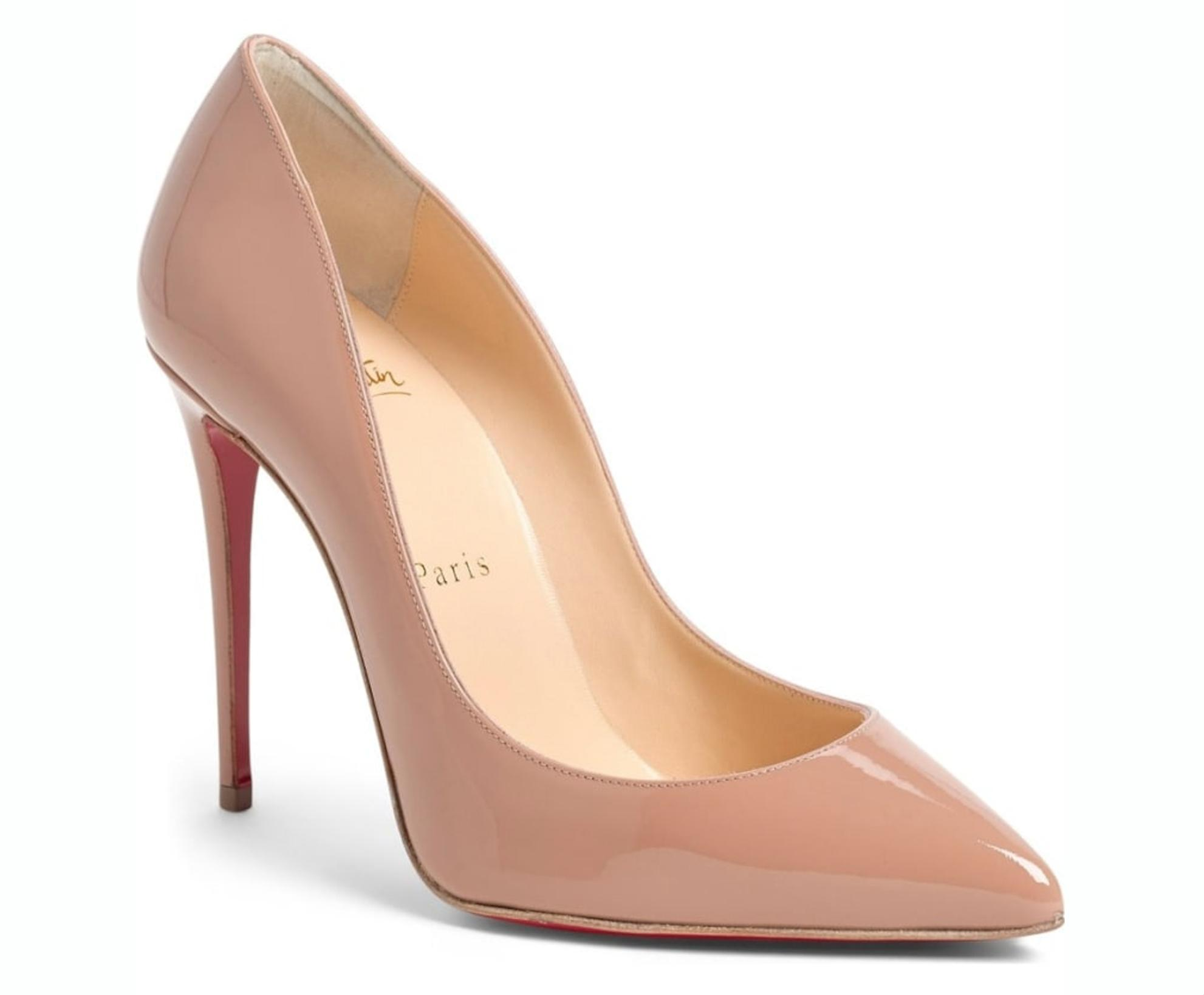 48cd630a95 Christian Christian Christian Louboutin Nude Pigalle Follies Patent 100mm  Red Sole Pumps Size EU 38 (Approx. US 8) Regular (M, B) 6f73e4