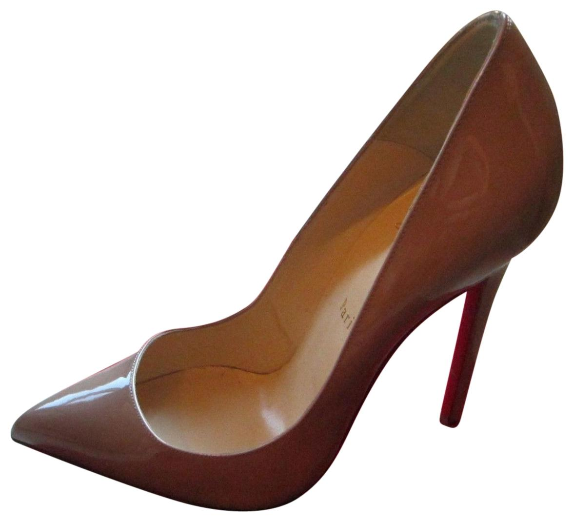 christian louboutin patent beige
