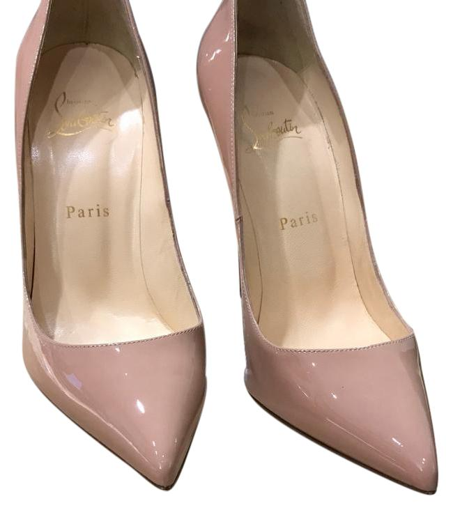 Christian Louboutin Patent Calf Pigalle 120 Nude