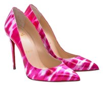 Christian Louboutin Patent Pink and White Pumps