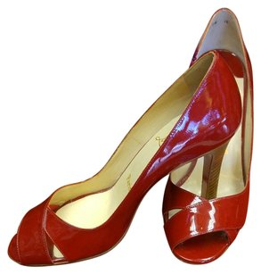 Christian Louboutin Peep Toe Pump Red Pumps