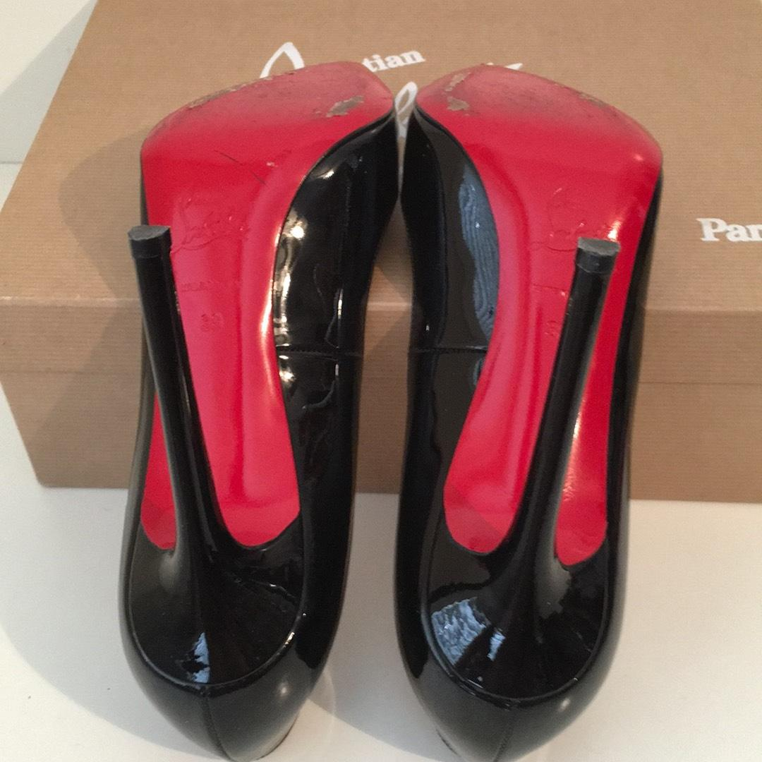 d2c2e5ee1729 ... Gentlemen Ladies-Christian Louboutin Pigalle 120 Black Patent Patent  Patent Leather 38 Pumps Size ...
