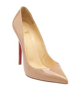 Christian Louboutin Pigalle 120 Patent Nude Pumps