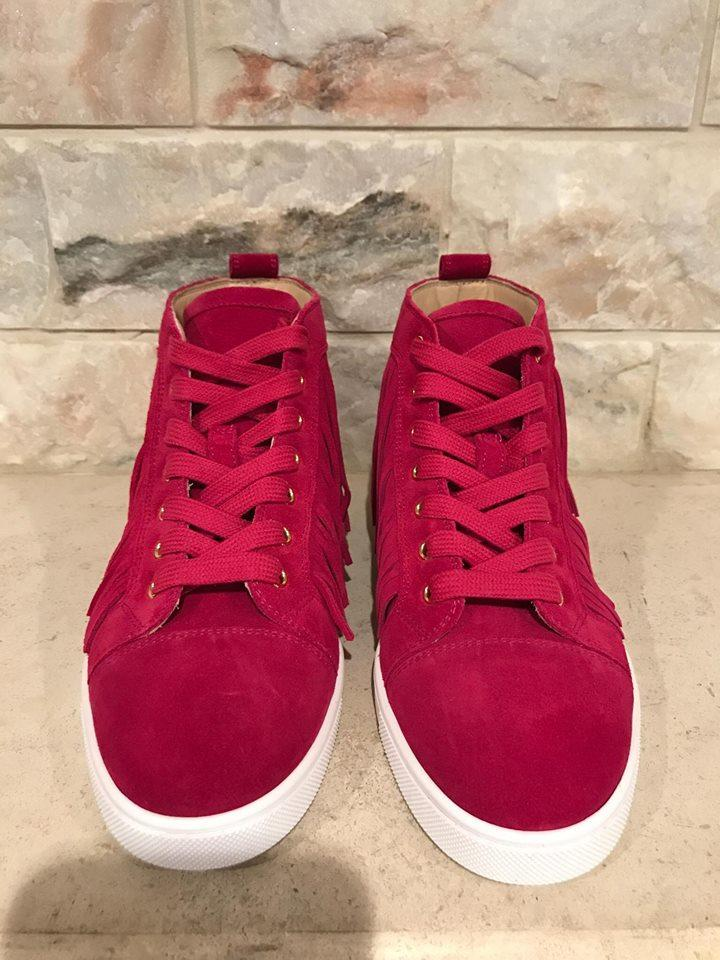 Rosa Suede Flat 8 Red