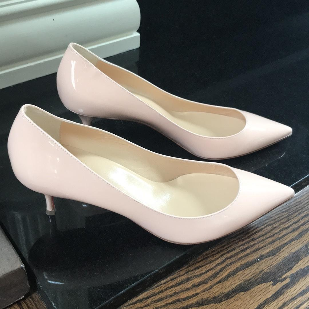 af762044c0f ... Christian Louboutin Pink Pink Pink Pigalle Follies Poudre Patent  Stiletto 55mm Pumps Size EU 39 ...