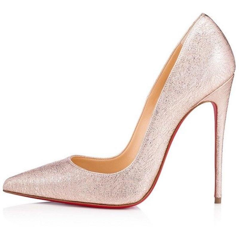 b61aaf38f11b Mr Ms :Christian :Christian :Christian Louboutin Pink So Kate 120 Rose Gold  Crinkled Leather Classic Pointed Heel Pumps Size ...