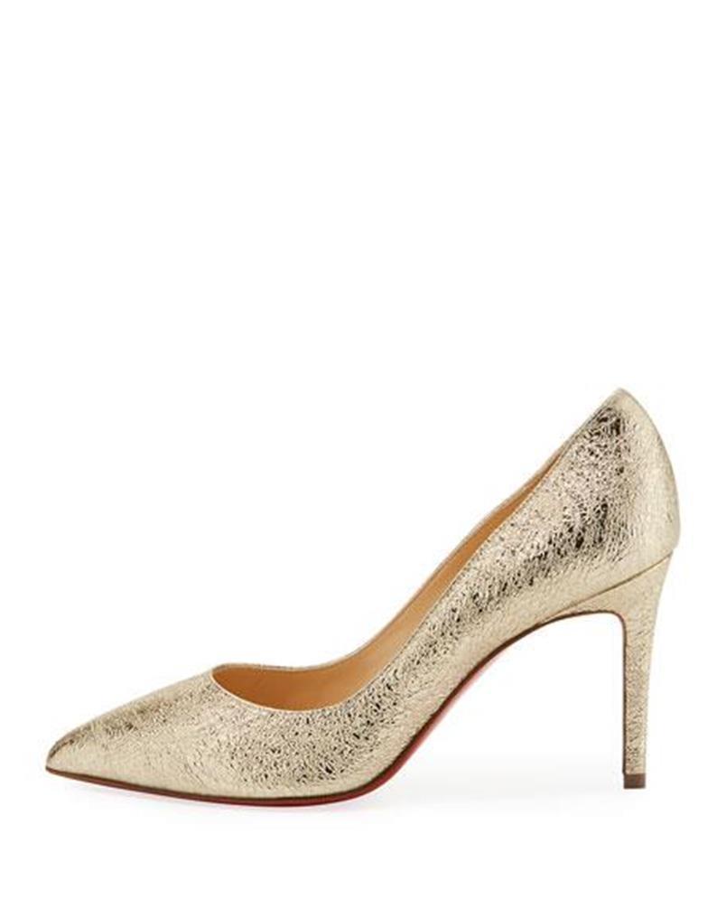 7bda5eec1b5 Christian Louboutin Platine (Gold) (Gold) (Gold) Pigalle 85 Vintage Textured