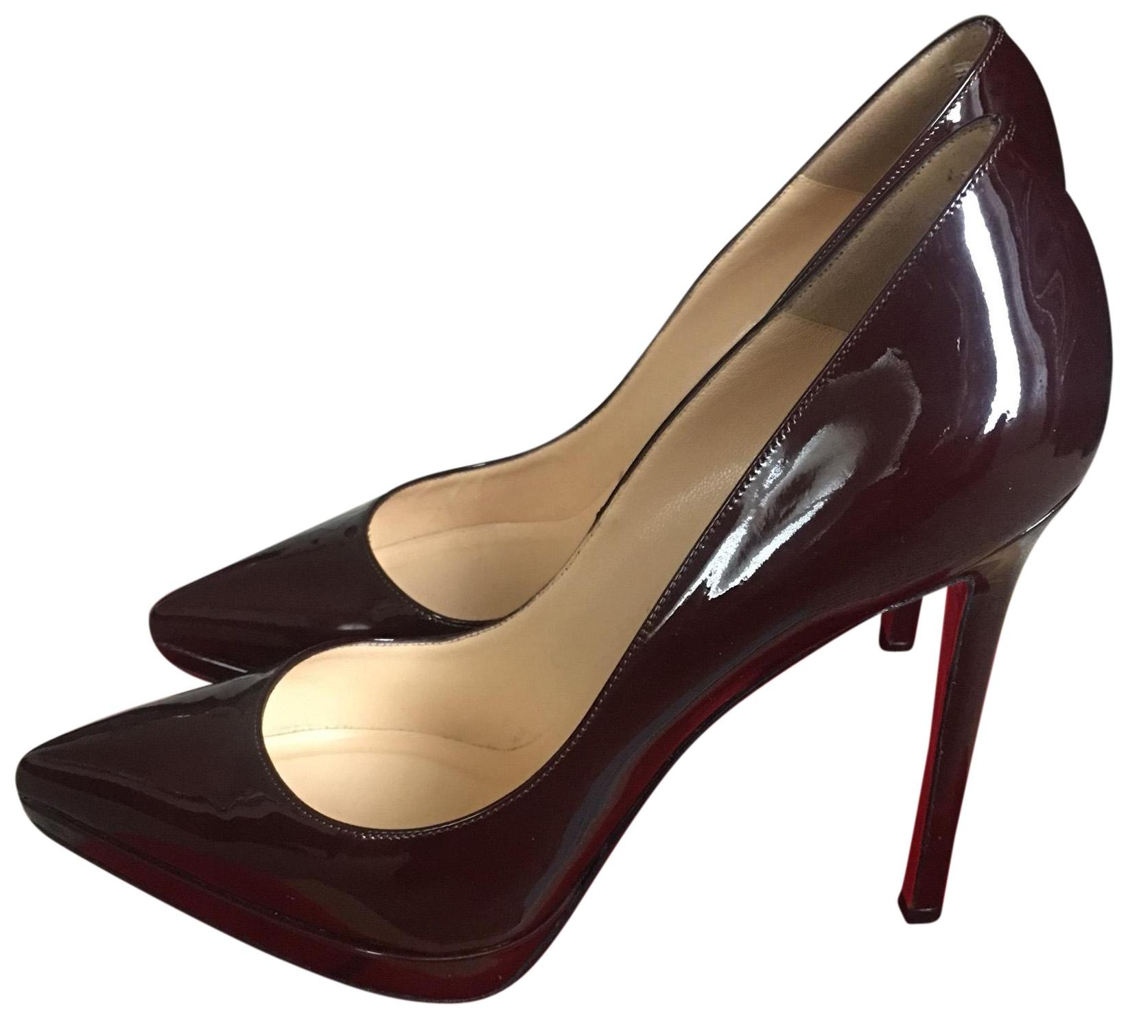 Christian Louboutin Plum Pigalle Plato 140 Pumps Size EU 38 (Approx. US 8) Regular (M, B)