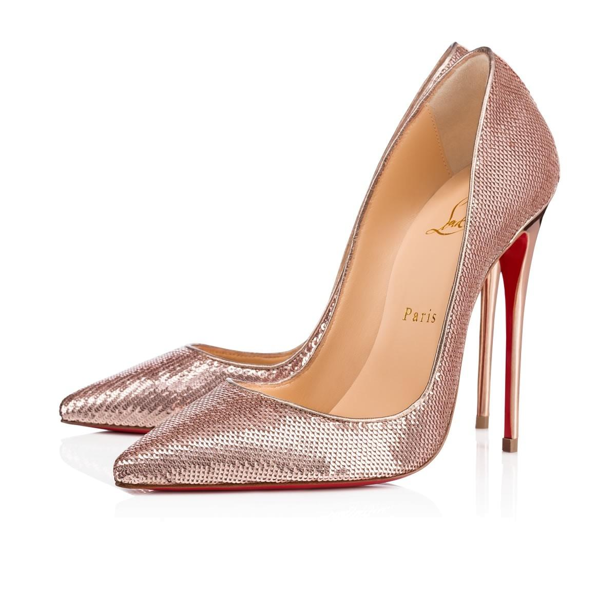 42f4f419b379 ... usa christian louboutin sequin so kate pigalle rose gold pumps 31290  c03c1
