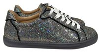 Christian Louboutin Seava Glitter Trainer Sneaker Lace silver Athletic