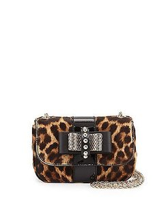 Christian Louboutin Sweet Charity Dyed Calf Hair Shoulder Bag