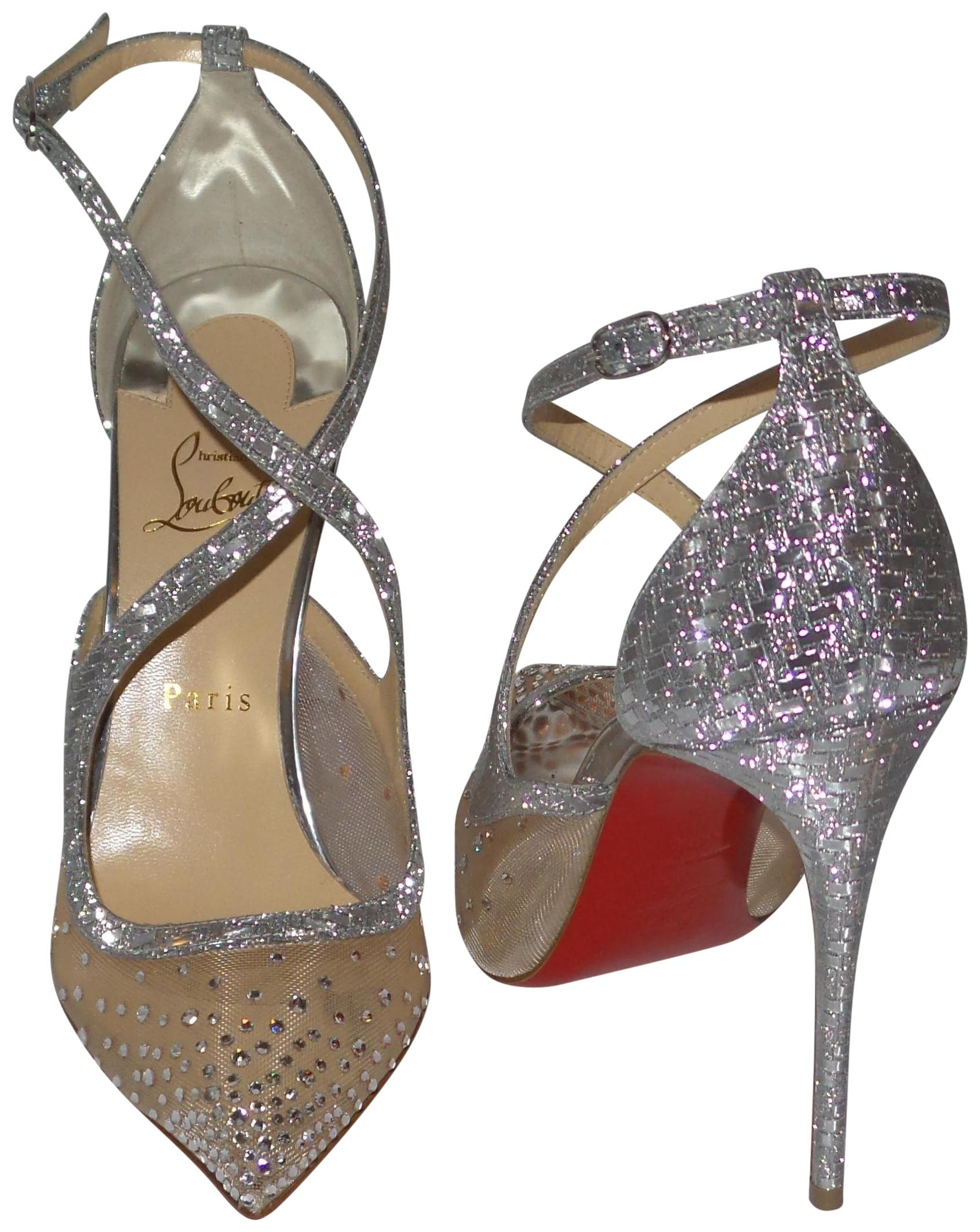 0f81b0acd2c Christian Louboutin Silver Twistissima Strass Strass Strass 100 Crystal  Pumps Size EU 40.5 (Approx.