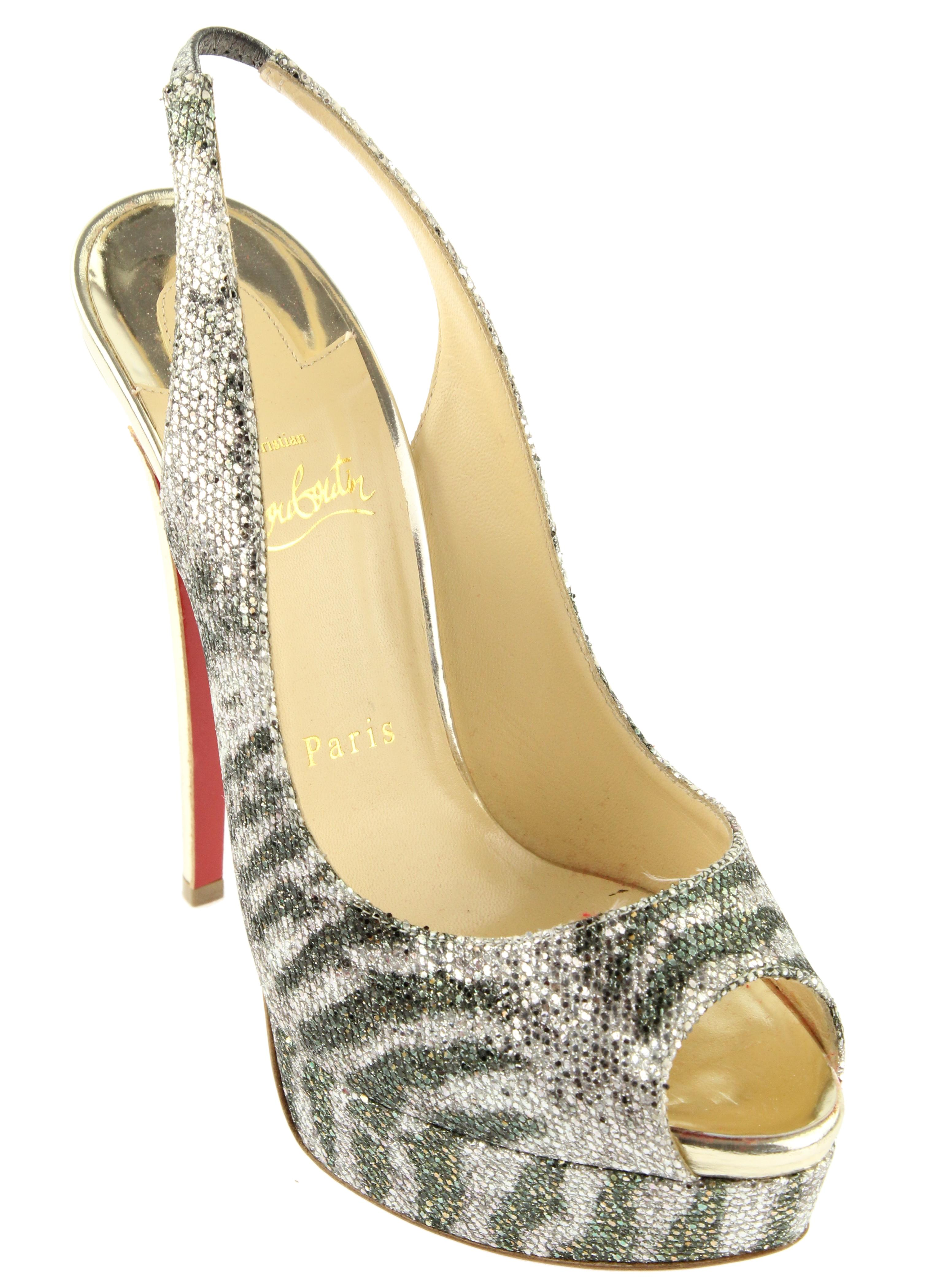 shop online Christian Louboutin Lady Peep Sling 150 Glitter Pumps cheap sale with paypal low shipping cheap online from china free shipping low price for cheap Udgcg2wtvv