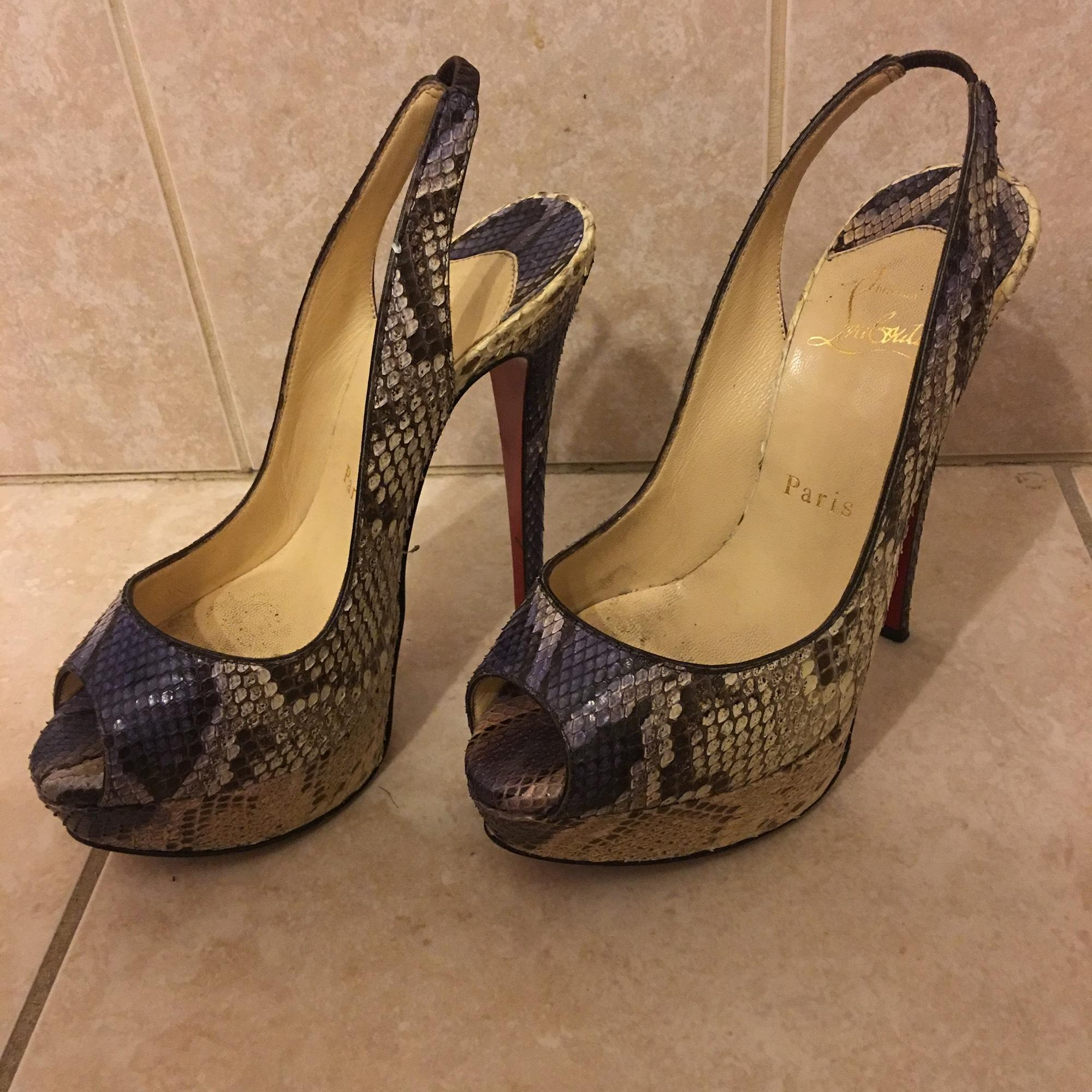 2e9f11da9b5 ... B Christian Louboutin Sling Back Pumps Pumps Pumps Platforms Size US  5.5 Regular (M