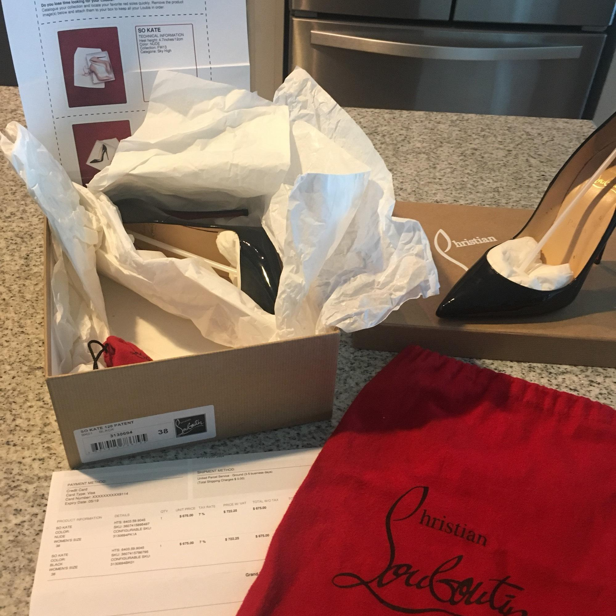 christian kate louboutin si kate christian pompes taille nous 8 étroites (aa, n) d4cded