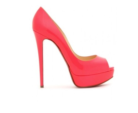 Christian Louboutin Stiletto Patent Leather Dustbags Heeltaps Hot Pink Platforms