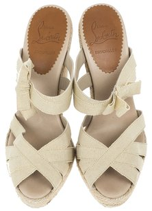 Christian Louboutin Tan Wedges