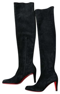 Christian Louboutin Thigh High Suede black Boots