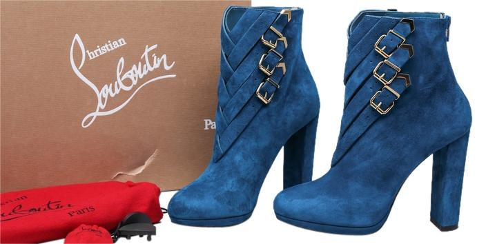 Christian Louboutin Troop Peacock Blue Boots/Booties Size US 9 Regular (M, B)