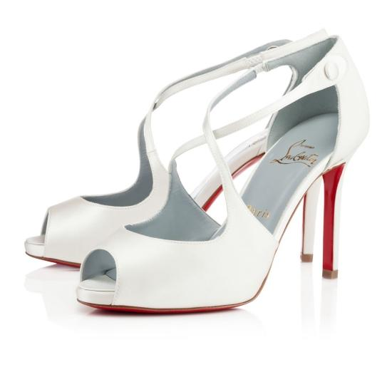 used christian louboutin bridal shoes