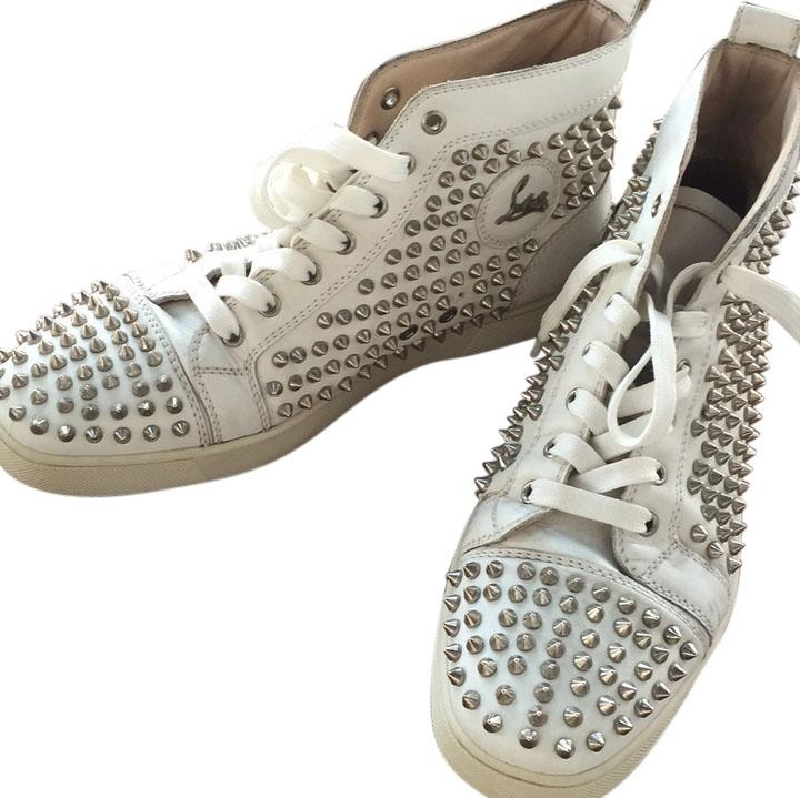 christian louboutin cl002 white athletic shoes on sale 57
