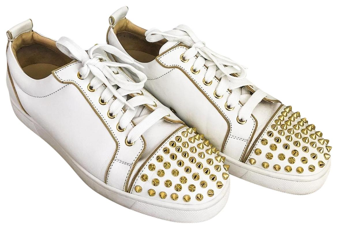 best service 4f47b e8bf6 shop christian louboutin sneakers gold chain c0a79 30926