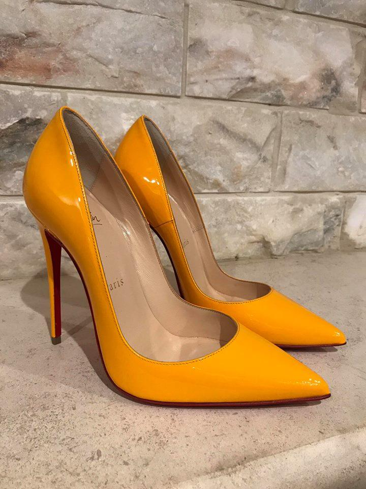 9a0e943b6f4 ... best price christian louboutin yellow so kate 120 full moon patent heel  37 pumps size us