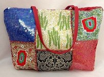 Christiana Beaded Handbag Different Patterns Tote in Multi-Color