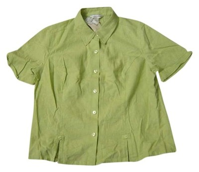 Preload https://item5.tradesy.com/images/christopher-and-banks-lime-short-sleeve-button-front-shirt-large-msrp-blouse-size-14-l-387014-0-0.jpg?width=400&height=650