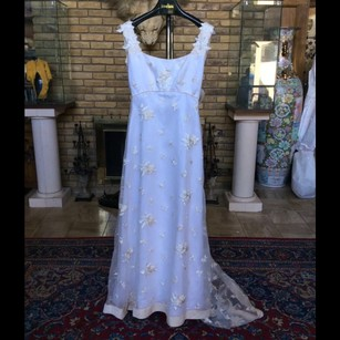 CHRISTOS White Vintage Wedding Dress Size 10 (M)