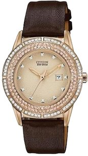 Citizen Citizen Drive Ttg Crystal Bezel Ladies Watch Fe1113-03a