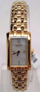Citizen Citizen Eco-drive Ladies Mop Crystal Gold Plated Watch