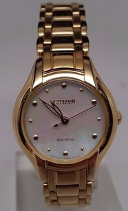 Citizen Citizen Eco-drive Ladies Silhouette Gold Tone Bracelet Dress Watch Em0282-56d