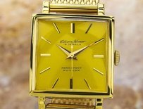 Citizen Citizen Homer Mens Yellow Dial Gold Plated Japanese Manual Watch 60s Scx371