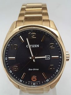 Citizen Citizen Mens Eco Drive Gold-tone Stainless Steel Watch