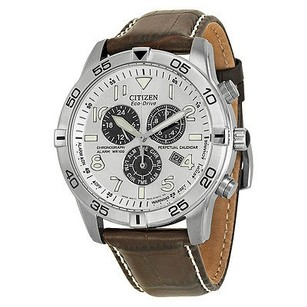 Citizen Citizen Perpetual Calendar Eco-drive Chronograph Silver Dial Mens Watch