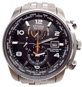 Citizen Citizen Eco-drive Mens Radio Controlled World Time Watch At9010-52e Fits 7