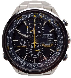 Citizen Citizen Eco-drive Mens Blue Angel Radio Control World Time Watch At8020-54l