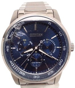 Citizen Citizen Eco-drive Bu2010-57l Mens Blue Dial Chronograph Stainless Steel Watch