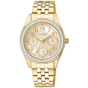 Citizen Gold Tone Ladies Multifunction Watch CZED8132-55P