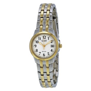 Citizen Silhouette Eco-Drive White Dial Two-tone Ladies Watch