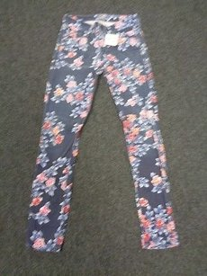 Citizens of Humanity Blue Pink Red Floral Rise Skinny 25 Sma3067 Skinny Jeans