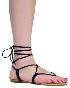 City Classified Black Sandals
